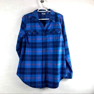 LL BEAN  MEDIUM Plaid button down long sleeve